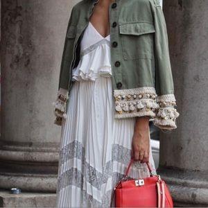 🎉HP🎉 Zara Tassel + Coin Embellished Jacket
